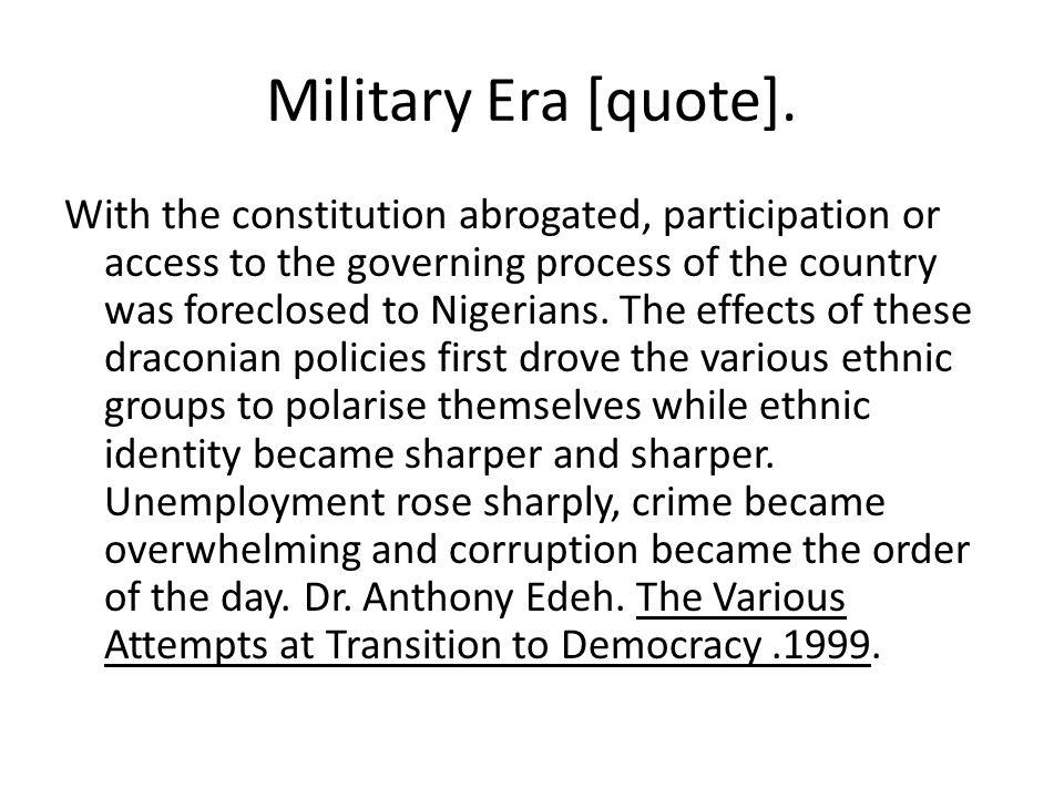 Military Era [quote].